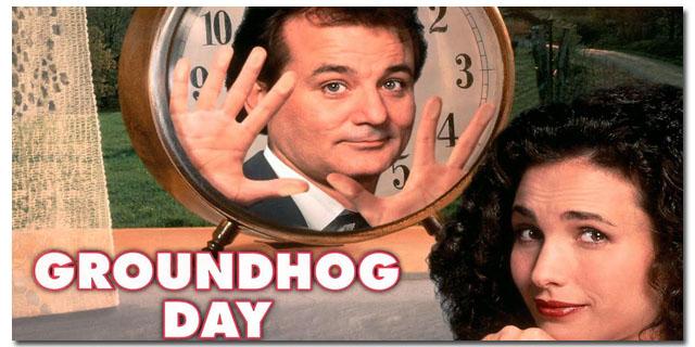Αποτέλεσμα εικόνας για groundhog day ταινια