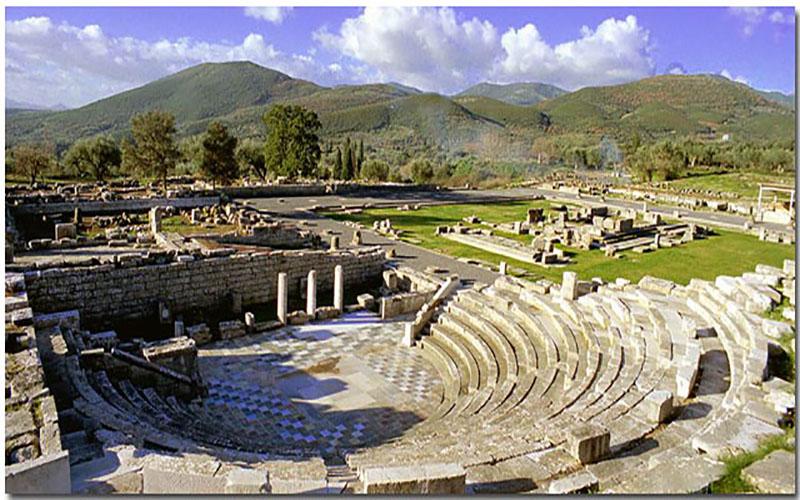 Η παράσταση ANΩTΕRRΑ στον αρχαιολογικό χώρο της Αρχαίας Μεσσήνης