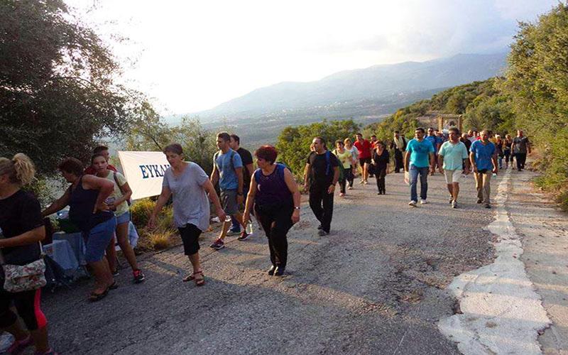 Εθελοντική δράση προς τους προσκυνητές πεζοπόρους από τον Ευκλή